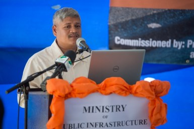 Minister within the Ministry of Public Infrastructure, Hon. Jaipaul Sharma.