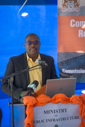 Minister of Public Infrastructure, Hon. David Patterson.
