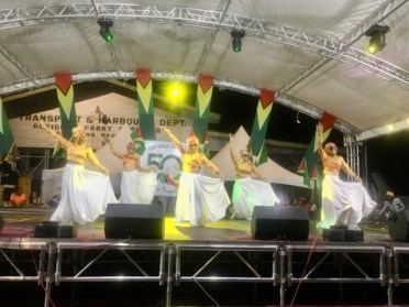 Some members of the Berbice delight dance troupe during their performance.
