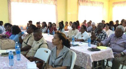 Several of the magistrates in Region 6 who participated in the seminar