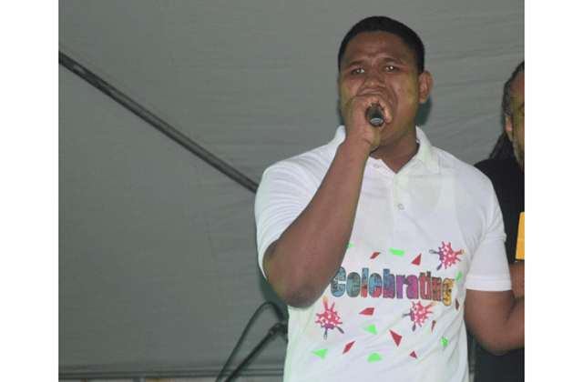 Relon Sumner performing at the Junior Soca Monarch Competition.