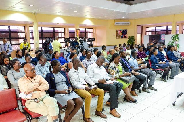 Some of the prospective students and invitees at the launch of the Diploma in Valuation programme at the University of Guyana.