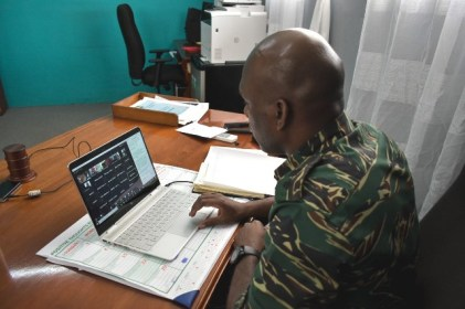 Director-General of the CDC, Lt. Col. Kester Craig during the virtual meeting
