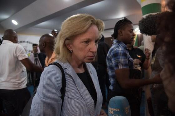 U.S. Ambassador to Guyana, Sarah-Ann Lynch.
