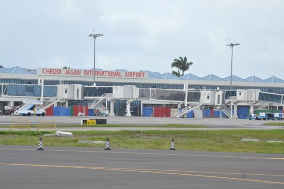 The Cheddia Jagan International Airport at Timehri.