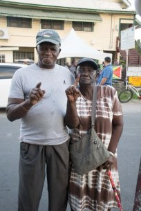 From left to right are, Cidly Duncan and Sheila Simon of Beterverwagting, ECD.