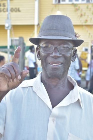 80 plus-year-old Eldon Hodges of Nismes community.