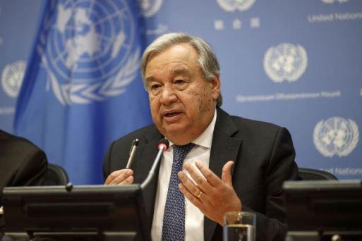 UN Secretary General Antonio Guterres.