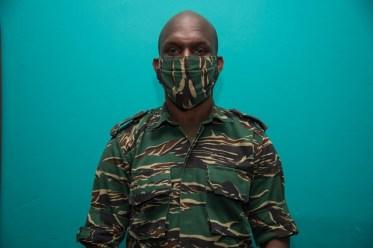 Lt. Col. Kester Craig practicing keeping safe