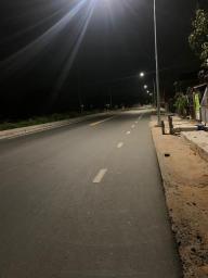 Friendship, East Coast Demerara public road void of traffic as 6pm beckoned on Sunday