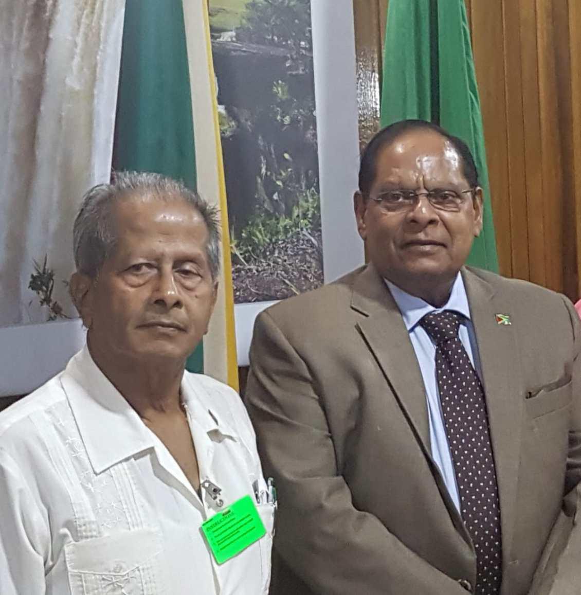 PM Nagamootoo and Late Komal Chand