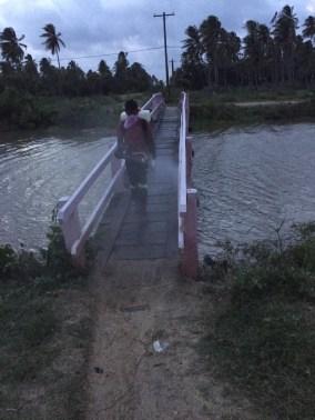 Sanitisation of a bridge in Black Bush Polder