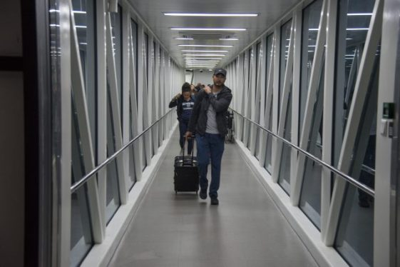 Passengers arriving at CJIA