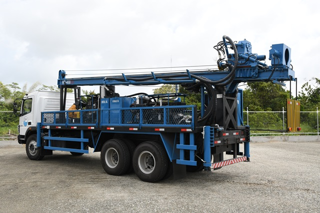 Front view of the drilling rig