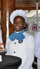 Head caterer and owner of Edible Treats by Georgie, 21-year-old Dionne George
