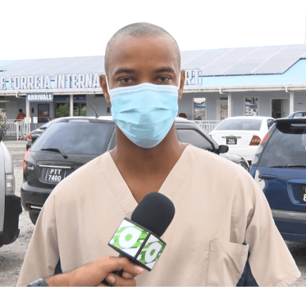Head of Medical Department of GPS, Dr. Quacy St. Clair