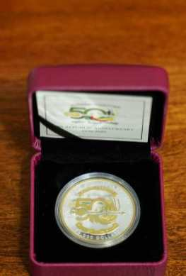The $10,000 gold plated commemorative coin