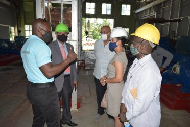 The Ministers take a tour of the Shelterbelt WTP