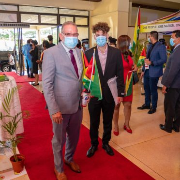 Special invitees arriving at the Inauguration ceremony of the 9th Executive President of Guyana at the National Cultural Centre (NCC)