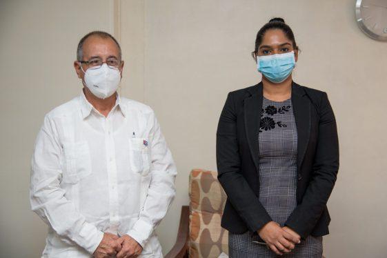 Minister of the Public Service, Hon. Sonia Parag, and the Cuban Ambassador to Guyana, H.E. Narciso Reinaldo Amador Socorro.
