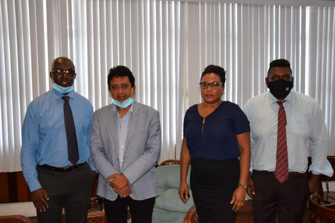 Attorney General and Minister of Legal Affairs, Hon. Mohabir Anil Nandlall, and the staff of the Financial Intelligence Unit (FIU)