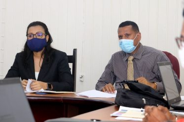 [In the photo, from right] Minister of Housing and Water, Hon. Collin Croal, and Minister within the Ministry, Hon. Susan Rodrigues.