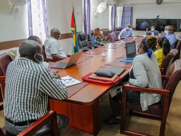 - Minister of Education, Hon. Priya Manickchand, and staff from the Ministry of Education, meeting with NDMA General Manager, Floyd Levi, and NDMA eServices Director, Malcom Williams, among other employees.