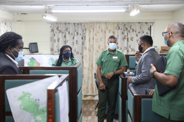 Minister of Natural Resources, Hon. Vickram Bharrat, meeting with the staff of the Guyana Forestry Commission (GFC).