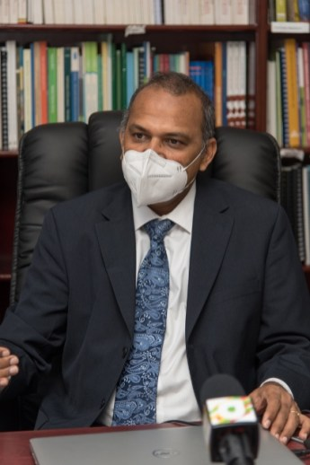 Minister of Health, Hon. Dr. Frank Anthony