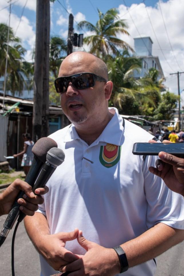 Guyana Amateur Basketball Federation (GABF) President, Mike Singh