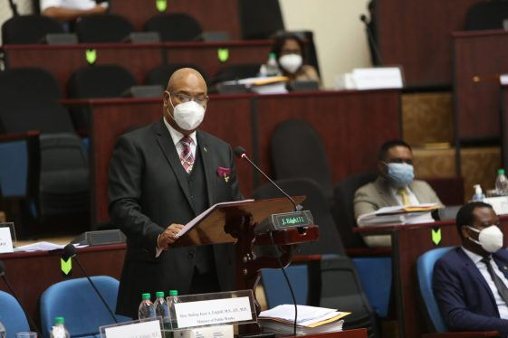 Minister of Public Works, Hon. Bishop Edghill