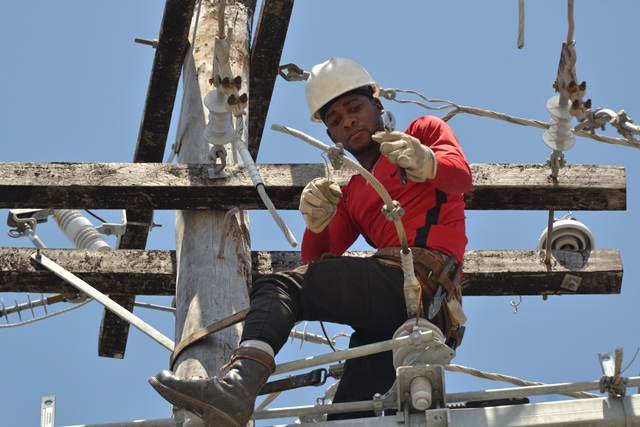 A GPL crew member at work in Tuschen, Region Three