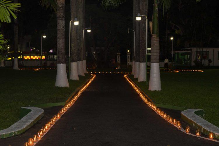 Diyas lit around State House