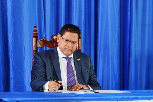Suriname's President His Excellency Chandrikapersad Santokhi