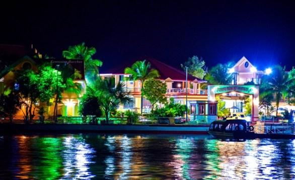 Aruwai Resort at night, Region 7.