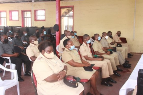 Fire Officers at the farewell ceremony