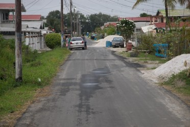 A section of completed road in GuySuCo Scheme