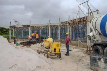 The construction of the new Bursary and Human Resources Building which is 30 per cent complete