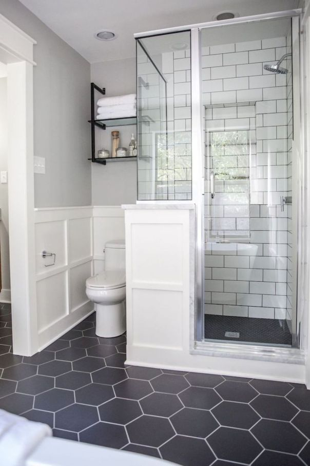 An all white bathroom remodeling project