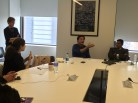 Mark Rosenwasser talking to the group about PBS