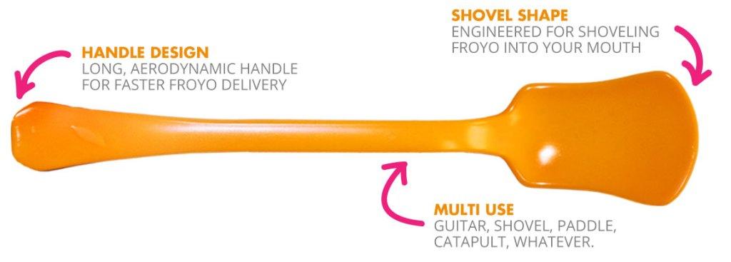 Orange Leaf's spoon is an objet d'brand