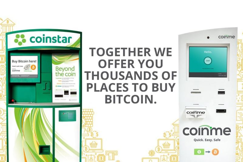 Bitcoin ATM Firm Coinme To Sell Bitcoin At Coinstar Coin Counting Machines (#GotBitcoin?)