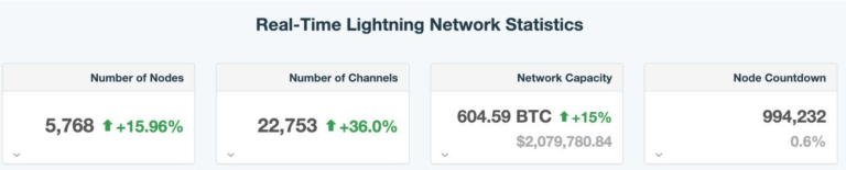 Lightning Network Reaches Marathon 600 BTC Capacity (#GotBitcoin?)