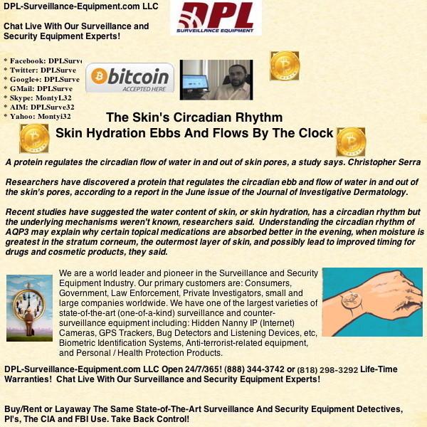 The Skin's Circadian Rhythm: Skin Hydration Ebbs And Flows By The Clock (#GotBitcoin?)