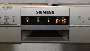 Error E15 lavavajillas Siemens