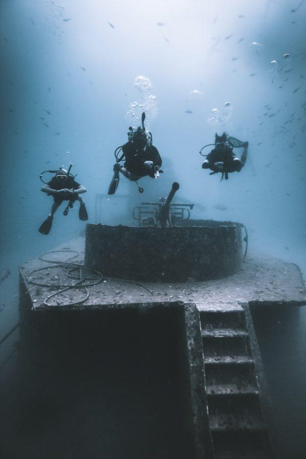 Shipwreck diving in koh tao