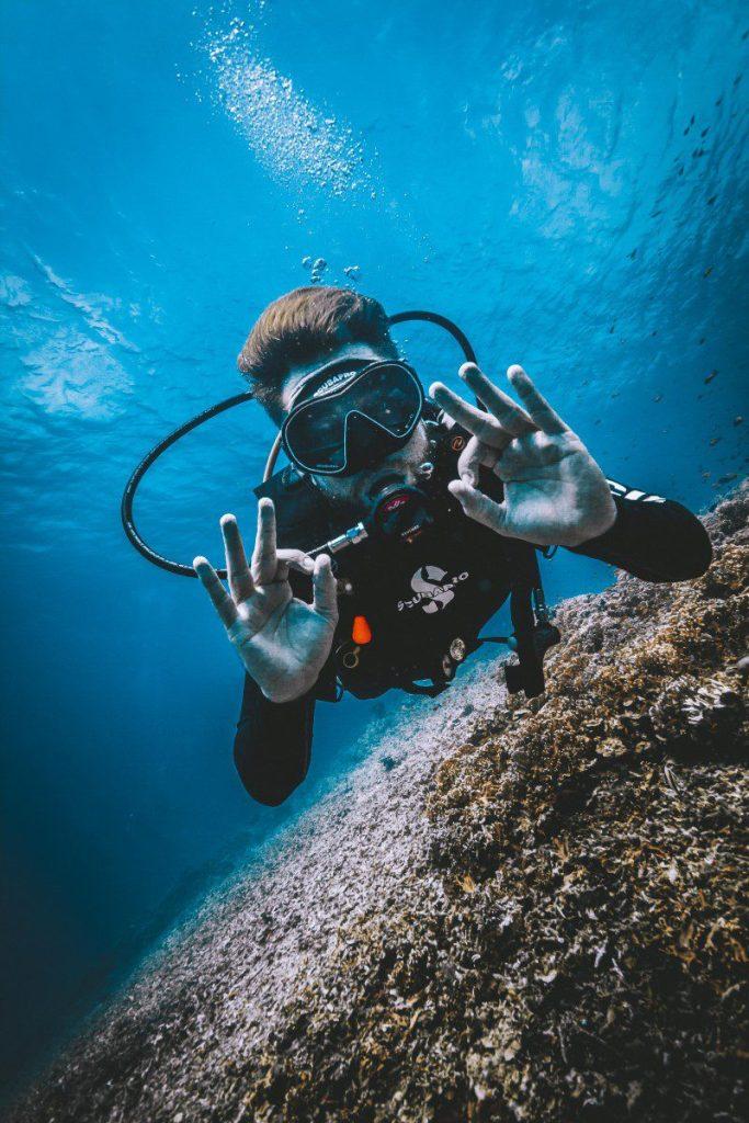 open water: curso de buceo en gili air