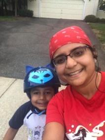 Ritika Bhatt and her son!