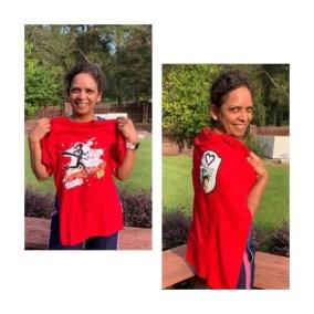 Meenakshi Pande poses after her run!
