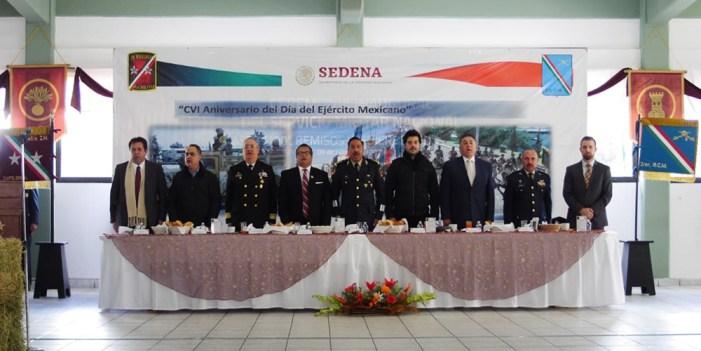 Participa Alcalde en festejo del Ejército Mexicano